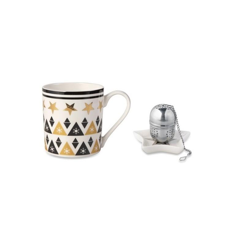 UNIQUE - Tasse, soucoupe et infuseur - Service à thé à prix grossiste