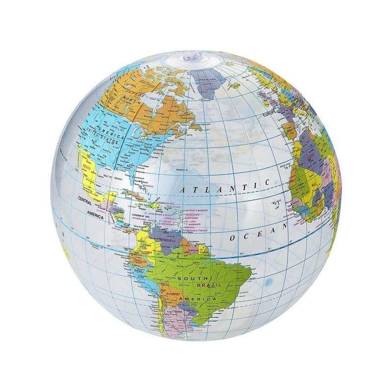 Ballon de plage transparent Globe - Bullet à prix de gros - Ballon de plage à prix grossiste