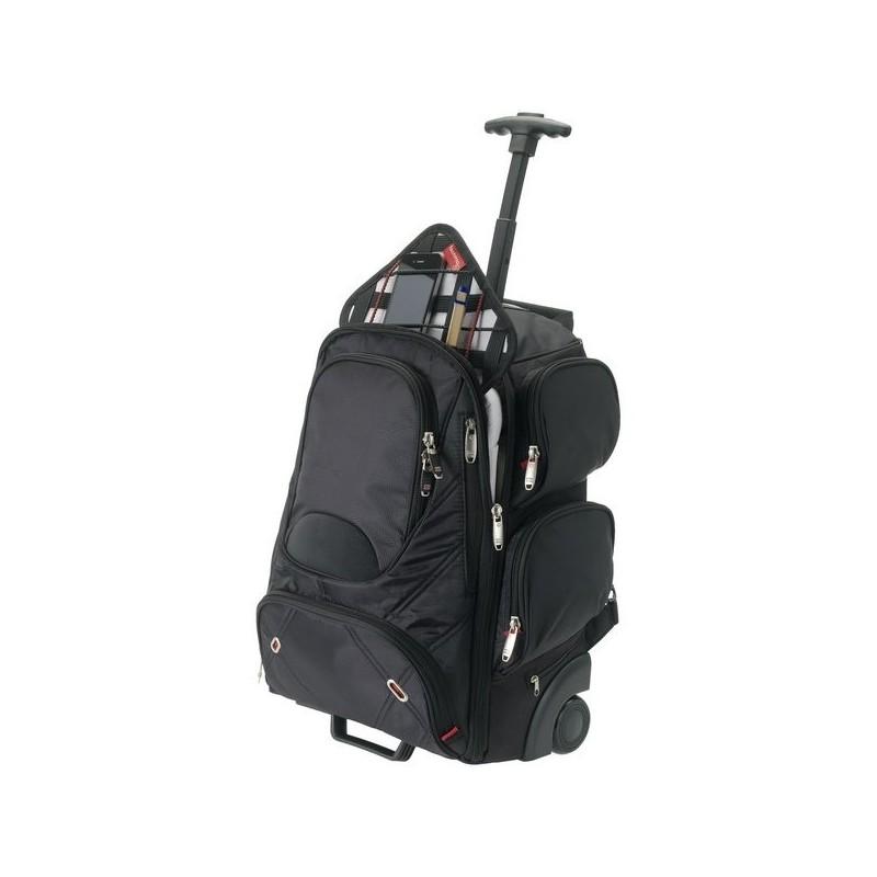 Sac à dos à roulette ordinateur 15 compatible poste de sécurité - Elleven à prix grossiste - sac à dos d'ordinateur à prix de gros