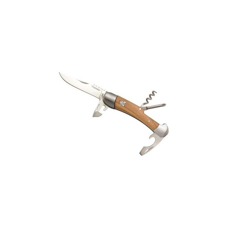 Couteau Laguiole multifonctions, manche en olivier à prix grossiste - Couteau multi-fonctions à prix de gros