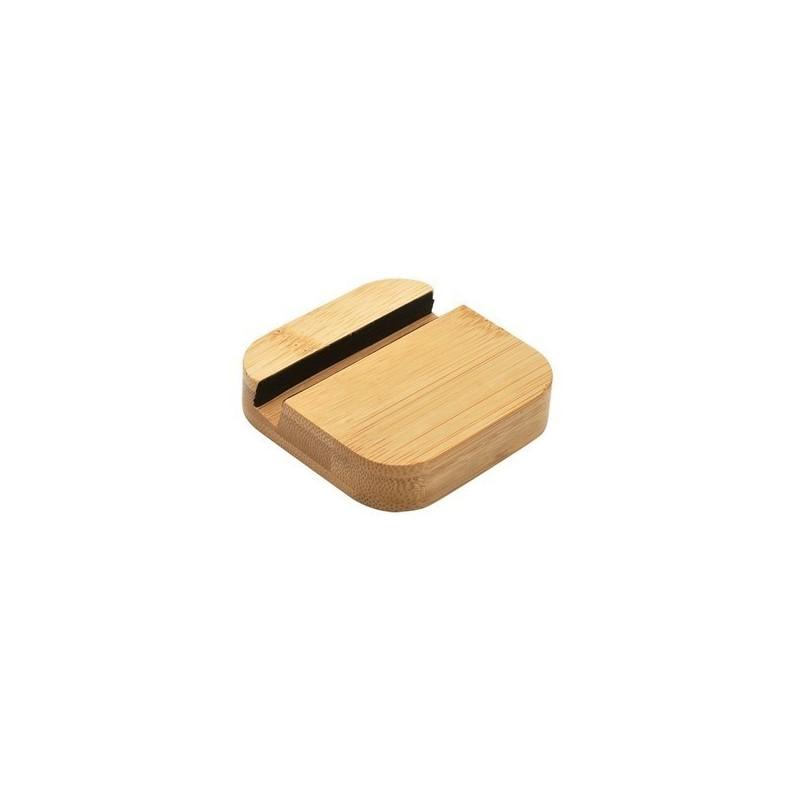 Support téléphone en bambou 'Dock' V2 - support de tablette à prix de gros