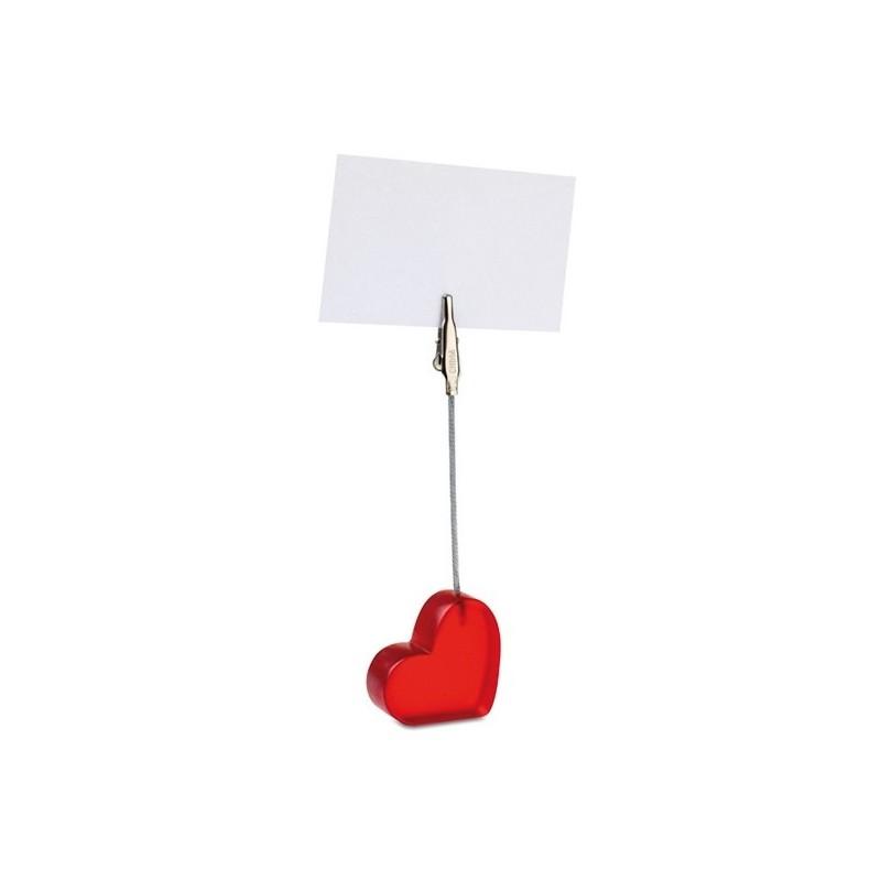CLIPORAZON - Clip en forme de coeur - Clip à papier / porte memo à prix grossiste
