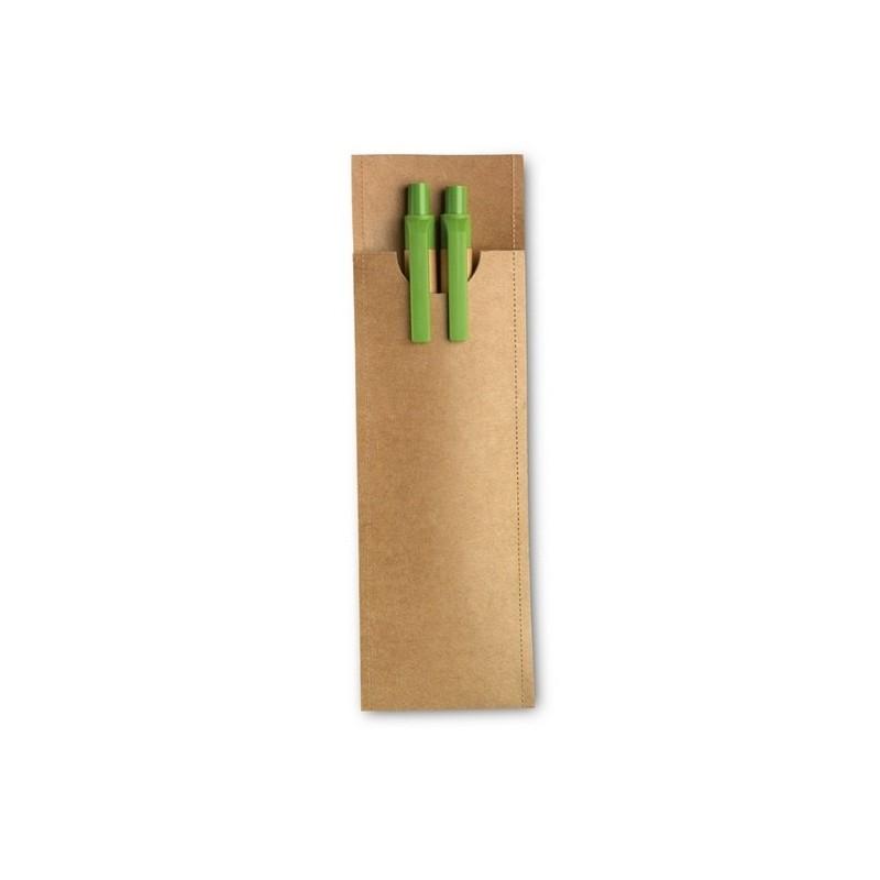GREENSET - Parure crayon/stylo bille à prix grossiste - Produit recyclé à prix de gros