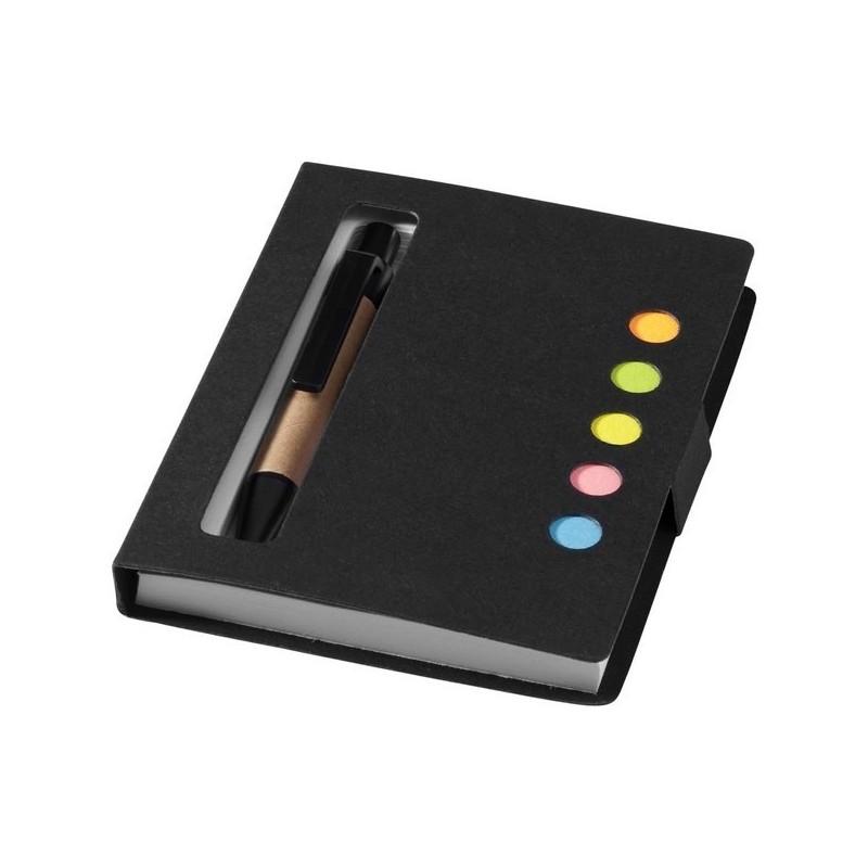 Bloc-notes avec mémos autocollants colorés et stylo Reveal - Bullet - carnet à prix de gros