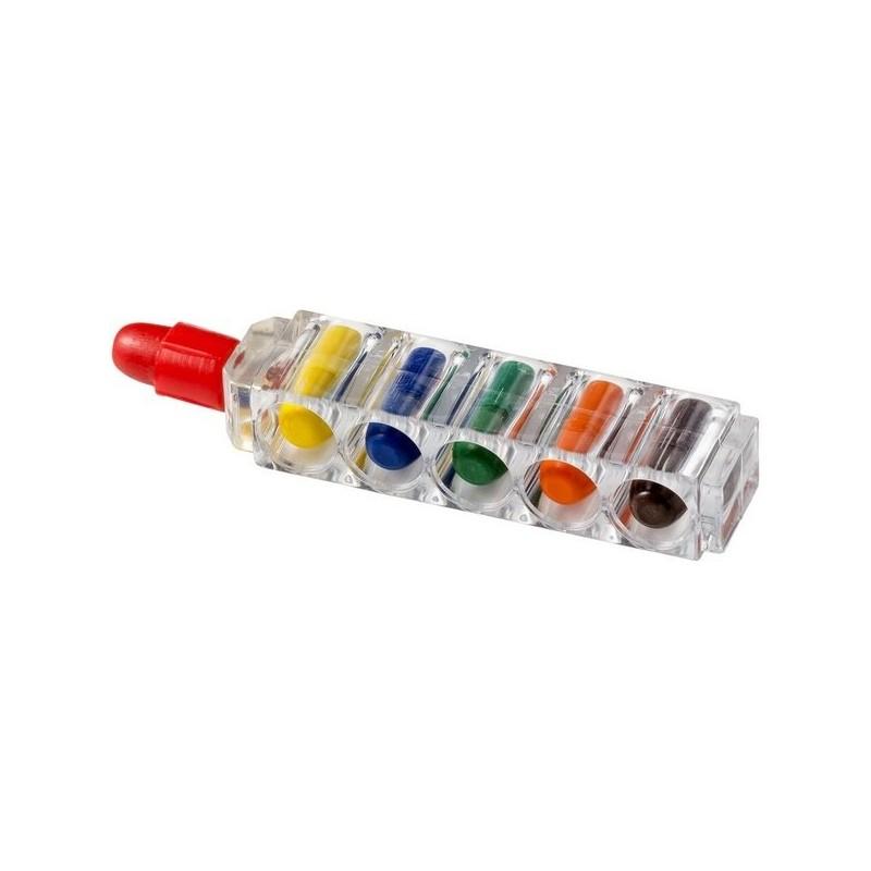 Crayons gras avec boîtier transparent 6 pièces Waxy - Bullet - Crayon de couleur à prix de gros