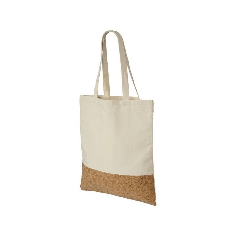Sac shopping liège et coton 175 gr/m² Cory - Bullet à prix grossiste - Sac naturel à prix de gros