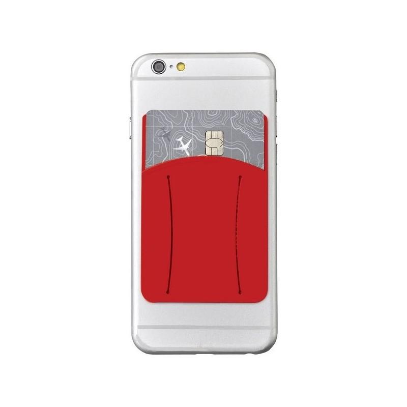 Porte-cartes avec anneau en silicone Storee - Bullet - Accessoire de maroquinerie à prix de gros