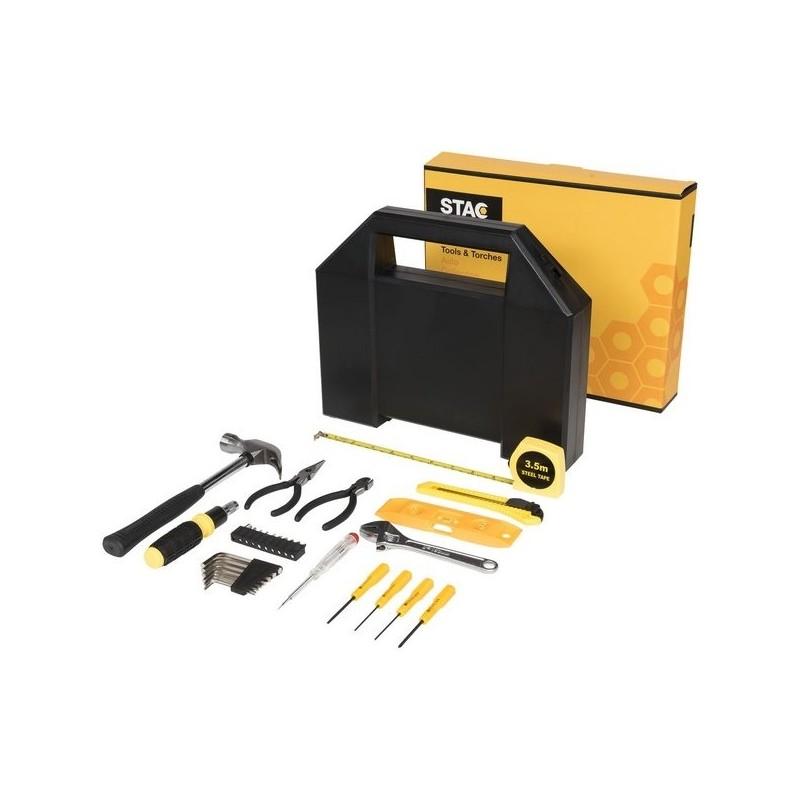 Boîte à outils 31 pièces Poseidon - STAC à prix de gros - Coffret à outils à prix grossiste