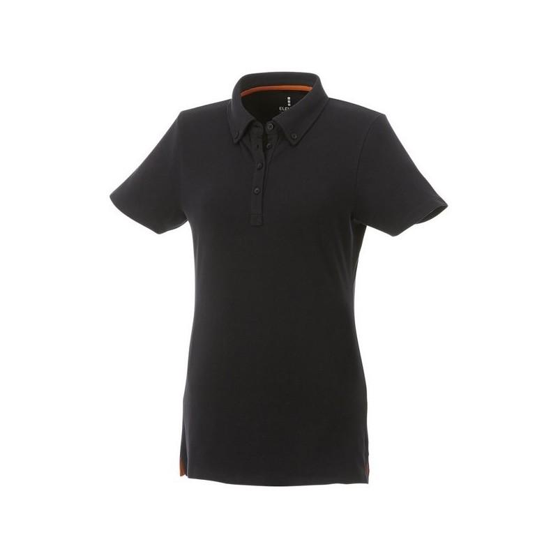Polo boutonné manches courtes femme Atkinson - Elevate à prix de gros - Polo manches courtes à prix grossiste