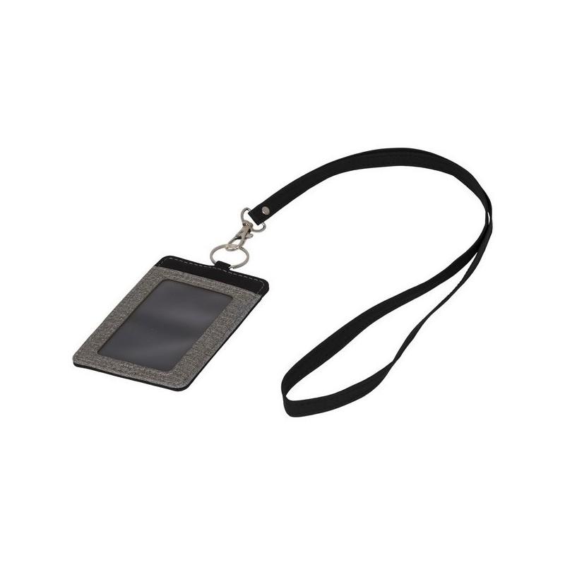 Porte-badge chiné avec lanière Eye-d - Bullet à prix de gros - Tour de cou (lanyard) à prix grossiste