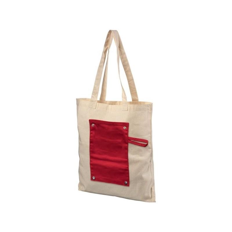 Sac shopping en coton 180 g/m² à rouler boutonné Snap - Bullet - Totebag à prix de gros