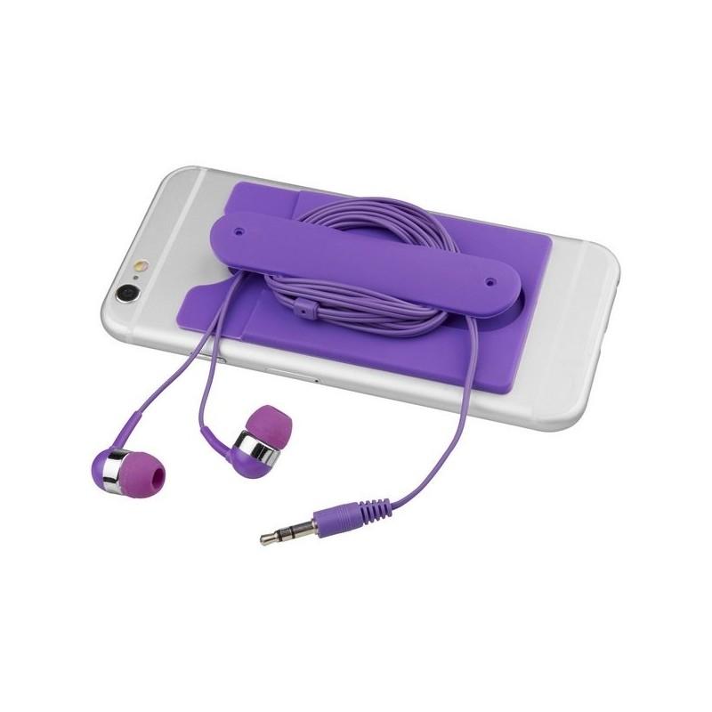 Écouteurs et porte-carte en silicone Wired - Bullet - écouteurs filaires à prix grossiste
