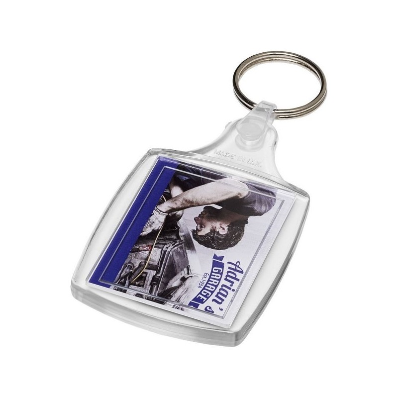 Porte-clés classique S6 avec attache plastique Zia - PF Manufactured - porte-clés photo à prix de gros