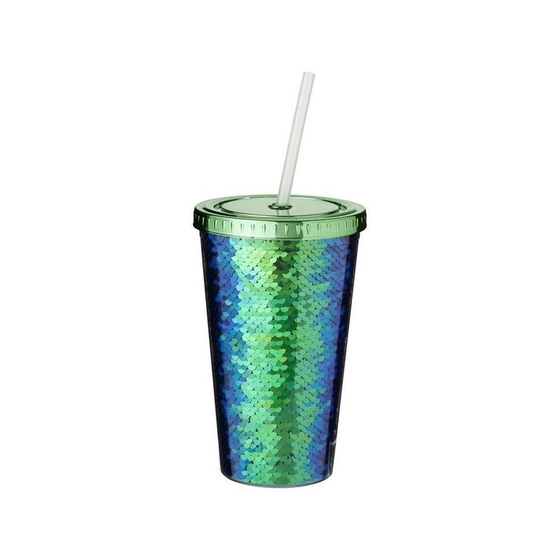 Gobelet à paillettes en acrylique 470 ml Festus - Bullet - Mug isotherme à prix de gros