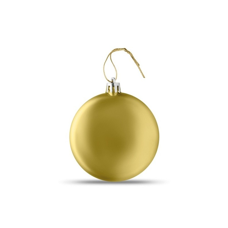 LIA BALL - Boule de Noël plate à prix de gros - Boule de Noël à prix grossiste