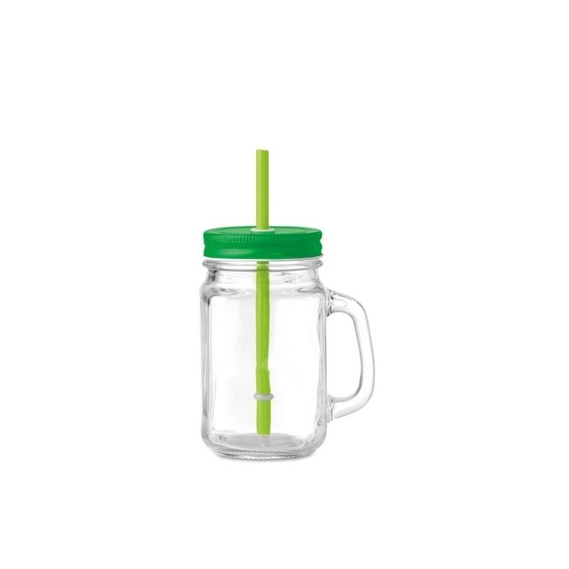 TROPICAL TWIST - Tasse en verre avec paille - Accessoire pour boire à prix de gros