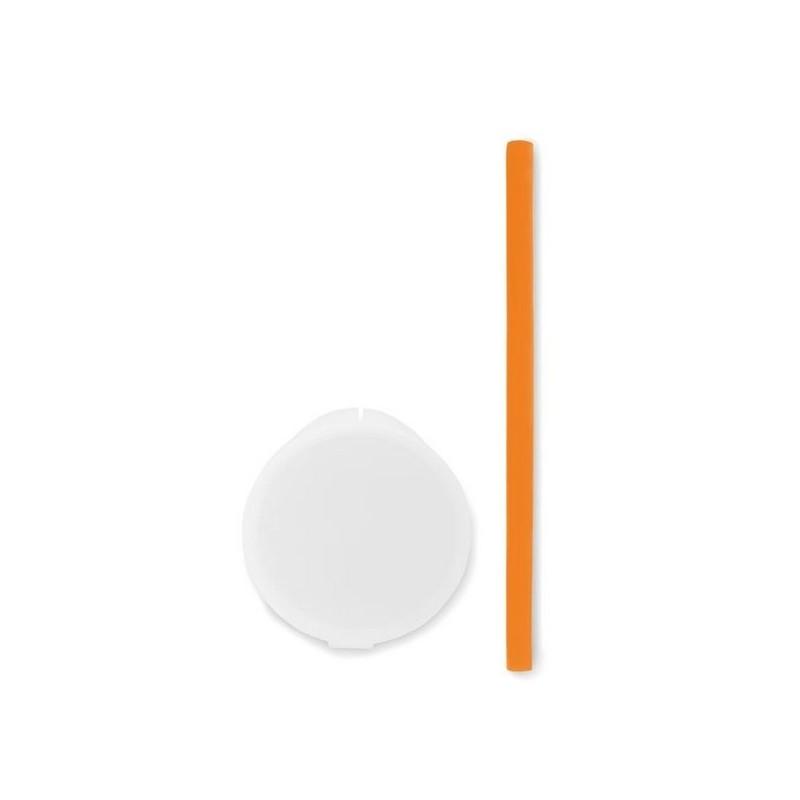 FLEXY STRAW - Paille de silicone dans étui. - paille à prix de gros
