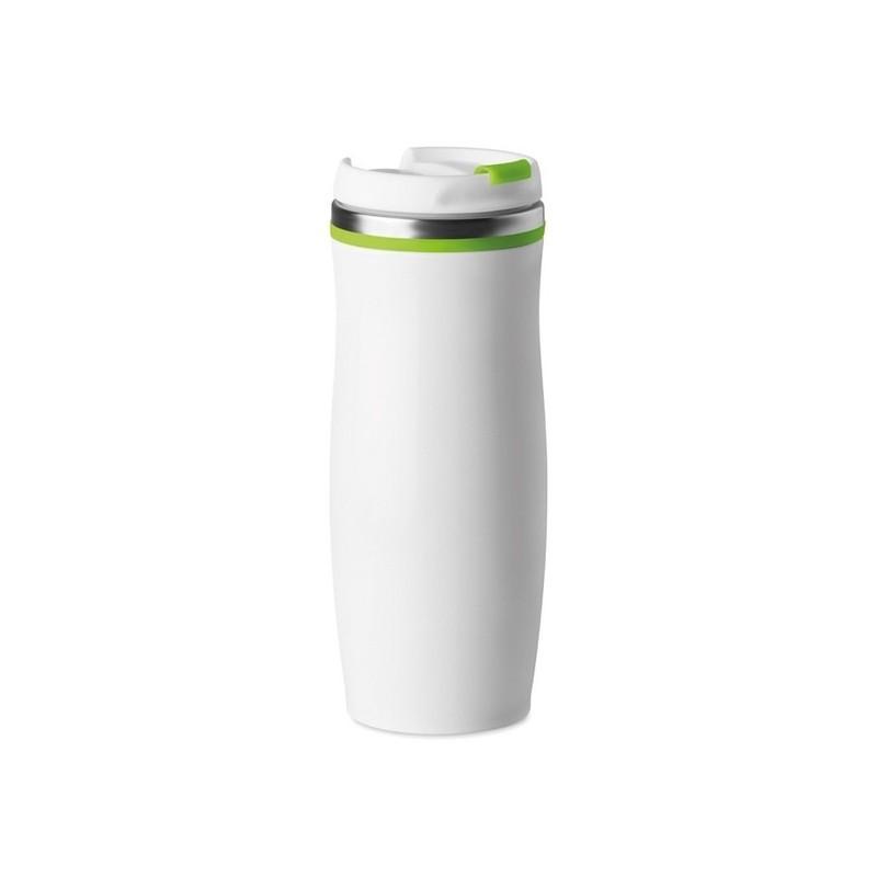 WHITE - Mug inox double paroi 400 ml - Mug de voyage à prix de gros