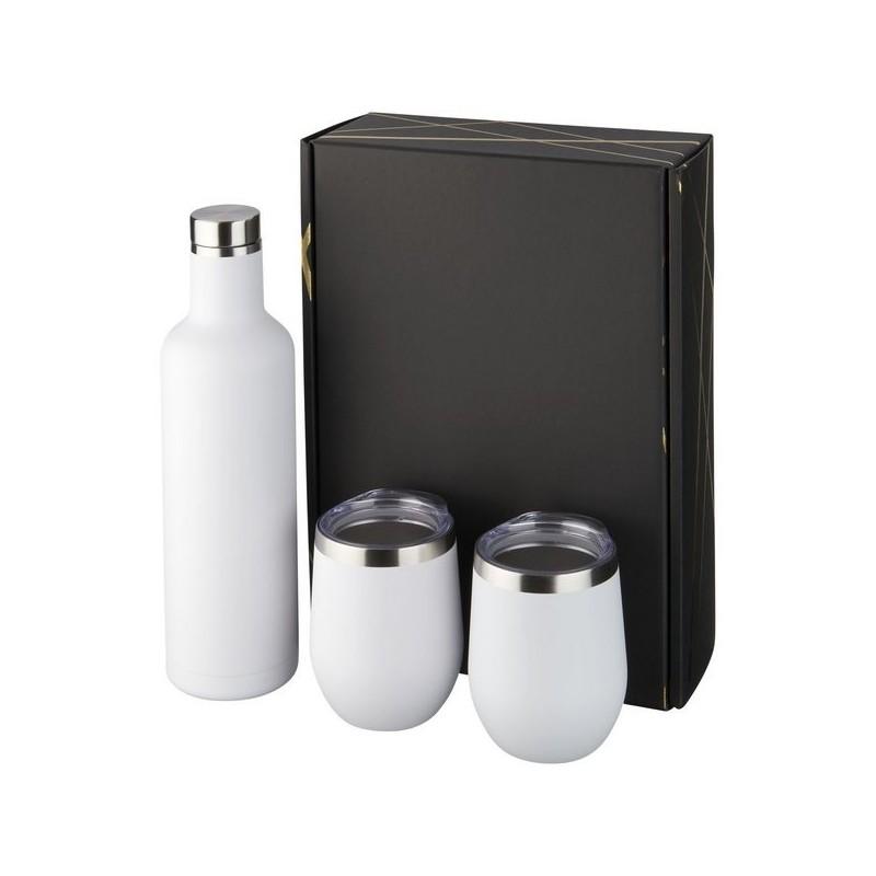 Coffret cadeau avec contenants ayant isolation par le vide et couche de cuivre Pinto et Corzo - Avenue - Flasque à prix de gros