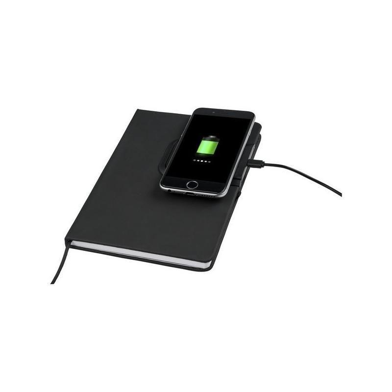 Carnet avec station de charge sans fil Cation - Marksman - carnet à prix de gros