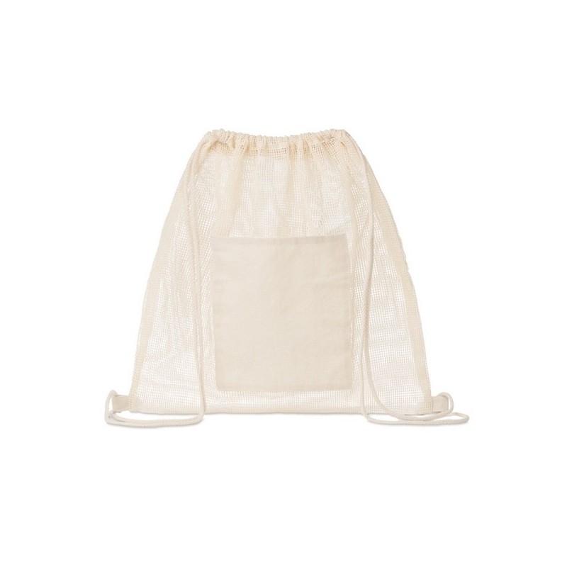 TROU BAG - Sac à cordon en maille de coton à prix grossiste - filet à provisions à prix de gros