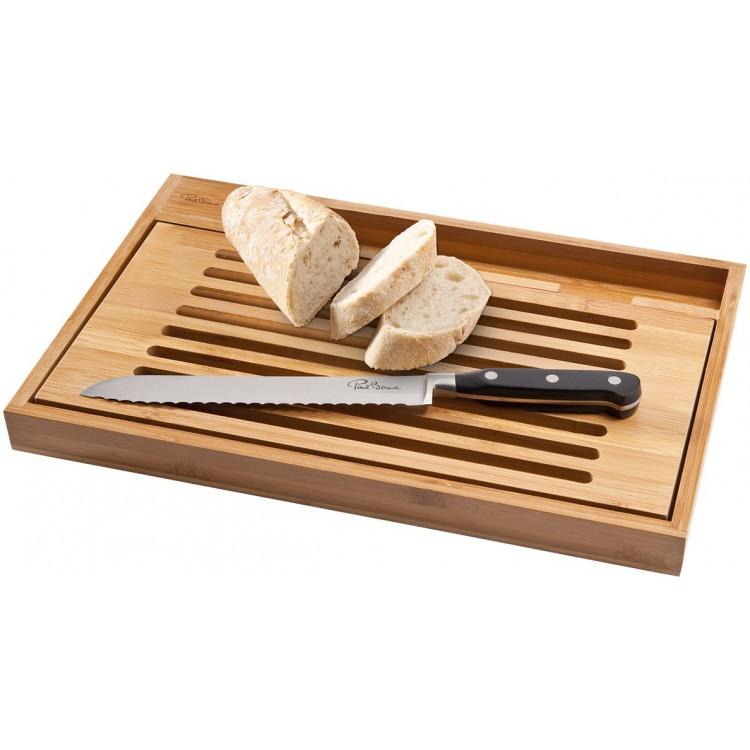 Planche à découper avec couteau à pain Bistro - Ustensile de cuisine à prix grossiste