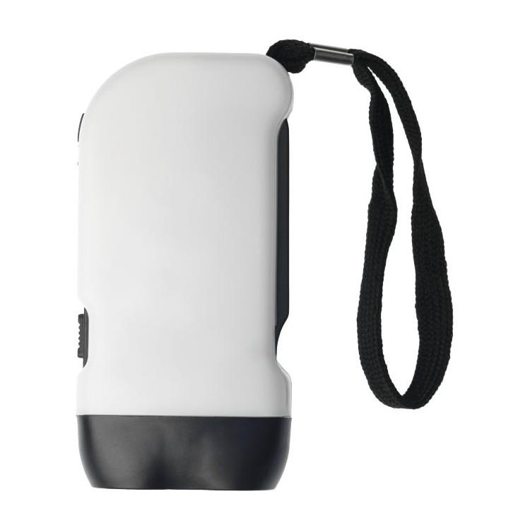 Lampe torche dynamo double LED avec sangle poignet Virgo - Lampe dynamo à prix de gros