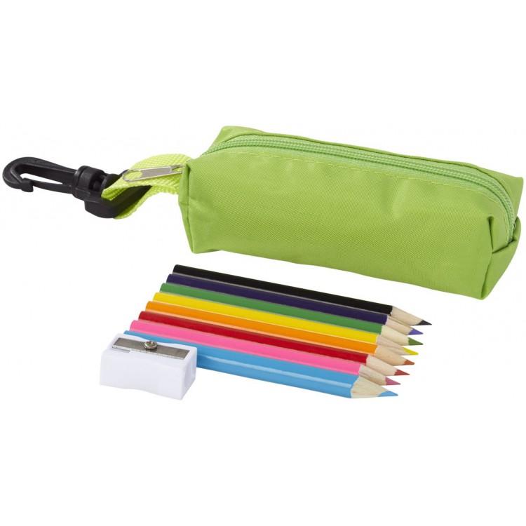 Trousse avec crayons de couleur 8 pièces Jimbo à prix grossiste - Trousse à stylos à prix de gros