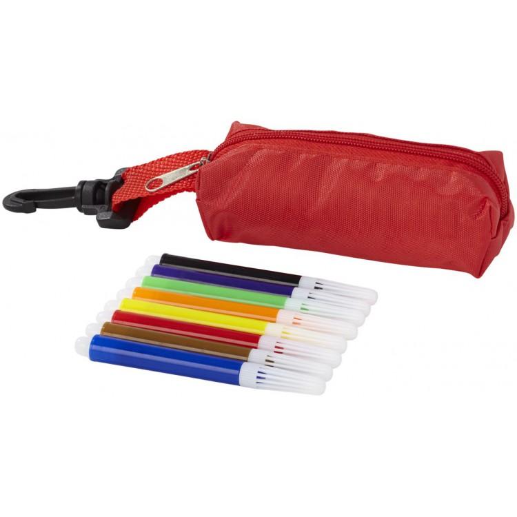 Trousse de feutres avec étui 8 pièces Bolt à prix de gros - Trousse à stylos à prix grossiste