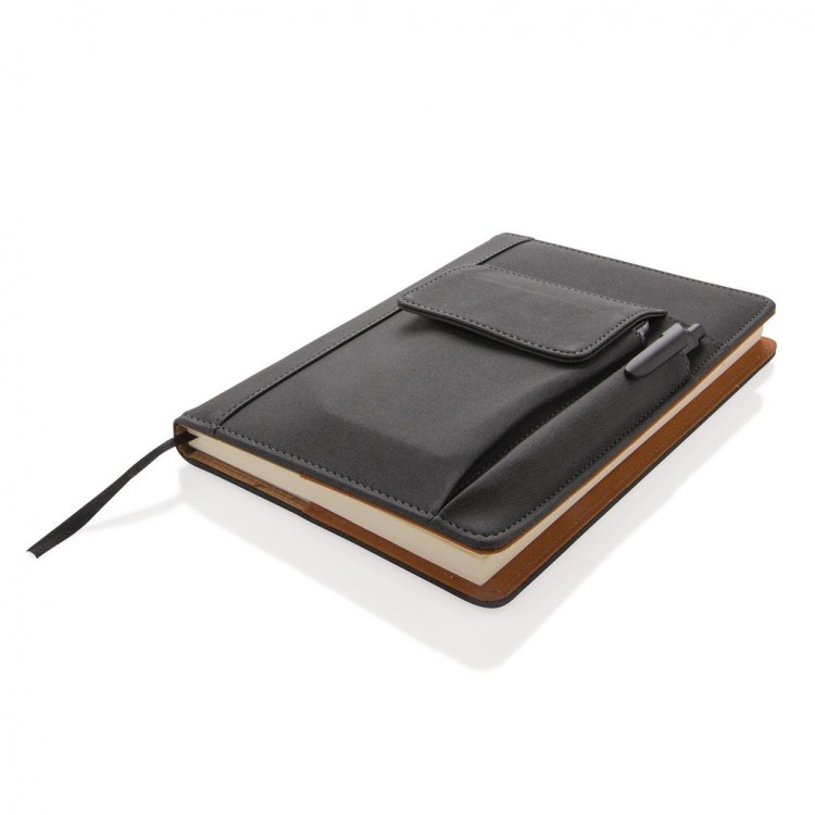Carnet de notes avec pochette pour téléphone à prix grossiste - Fourniture de bureau à prix de gros