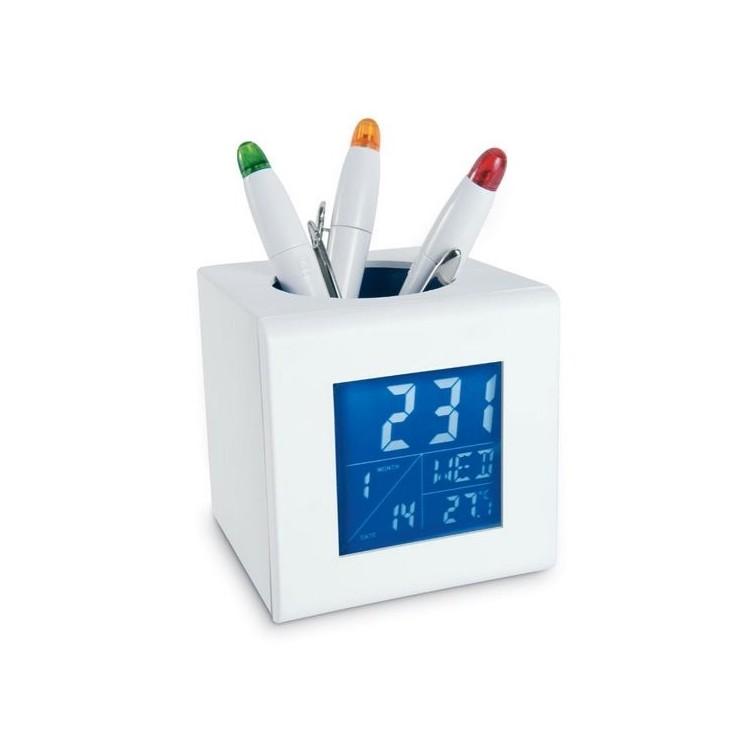 Station météo/ porte stylo - Thermomètre électronique à prix grossiste