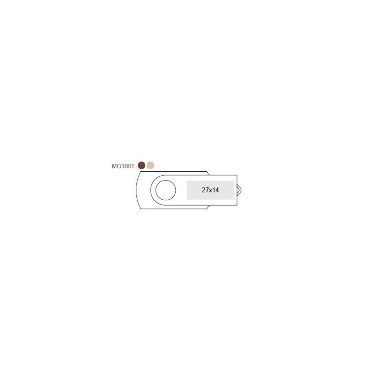 Clé USB Turnwoodflash - 4 Go - Clé usb à prix grossiste