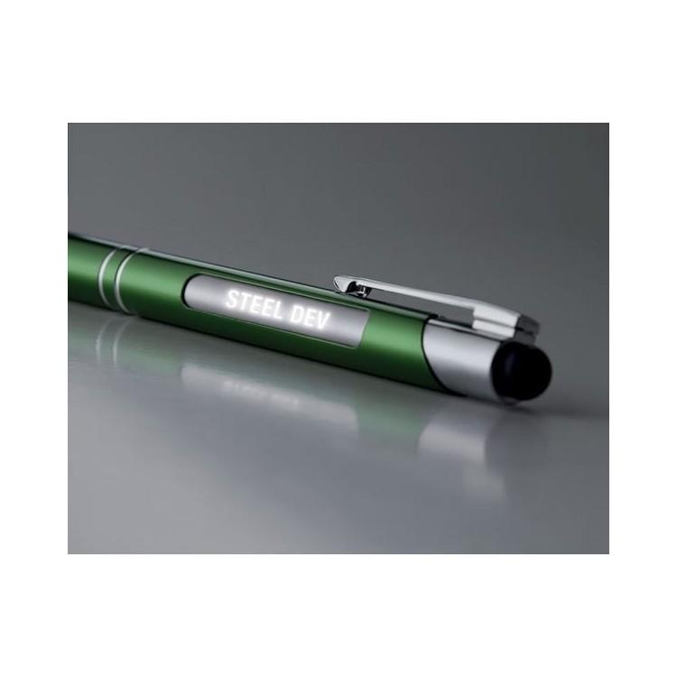 Stylet en aluminium avec lumièr- BERN LIGHT à prix de gros - Stylo 2 en 1 à prix grossiste
