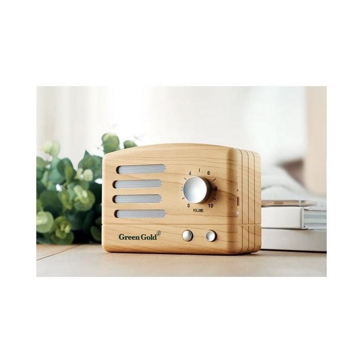 Haut-parleur Bluetooth aspect b- JACKSON à prix de gros - Produits en bois à prix grossiste