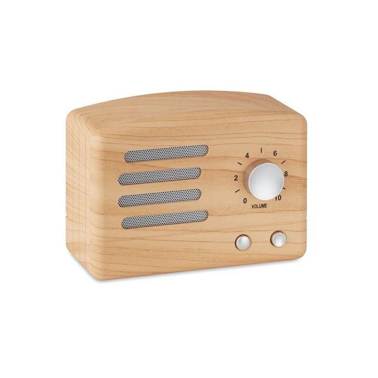 Haut-parleur Bluetooth aspect b- JACKSON à prix de gros - Produit en bois à prix grossiste