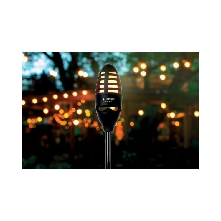 Flambeau LED et haut parleur - SOUNDFLAME - Matériel de camping à prix de gros