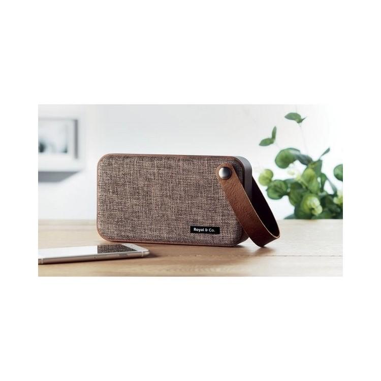 Haut-parleur Bluetooth en MDF. - CLASSIC - Accessoire pour tablettes à prix grossiste