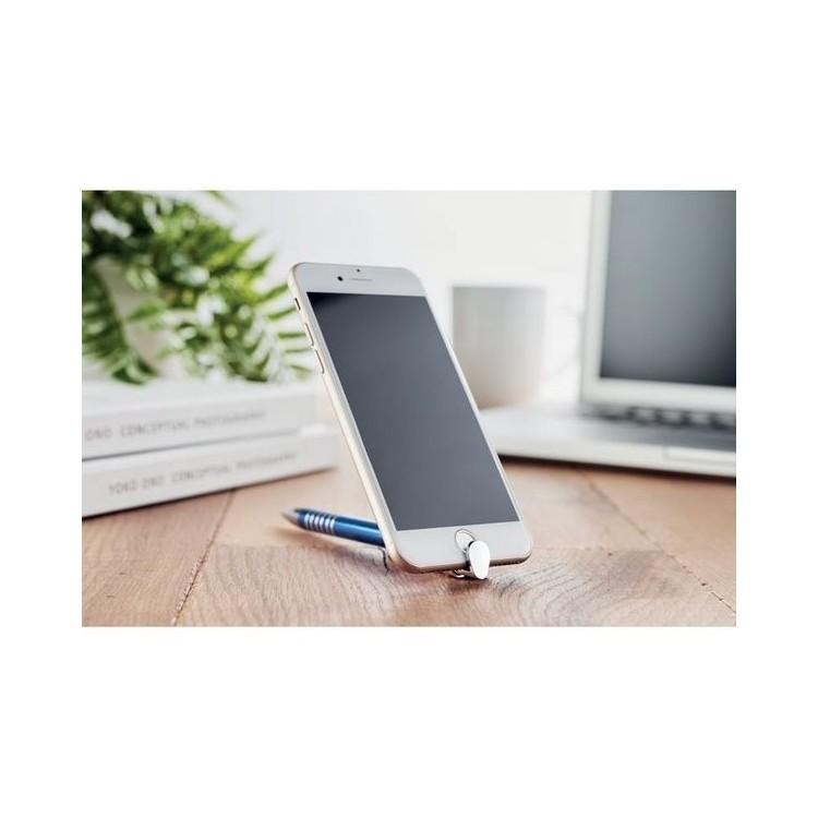 Stylo alu support téléphone. - STANDY - Stylo bille à prix grossiste