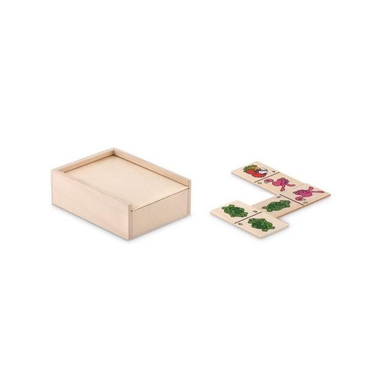 Domino enfants dans une boîte. - ANIMALS - Jeu en bois à prix grossiste