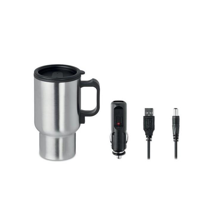 Mug voyage double paroi 450ml. - STIR IT UP - mug en métal à prix grossiste