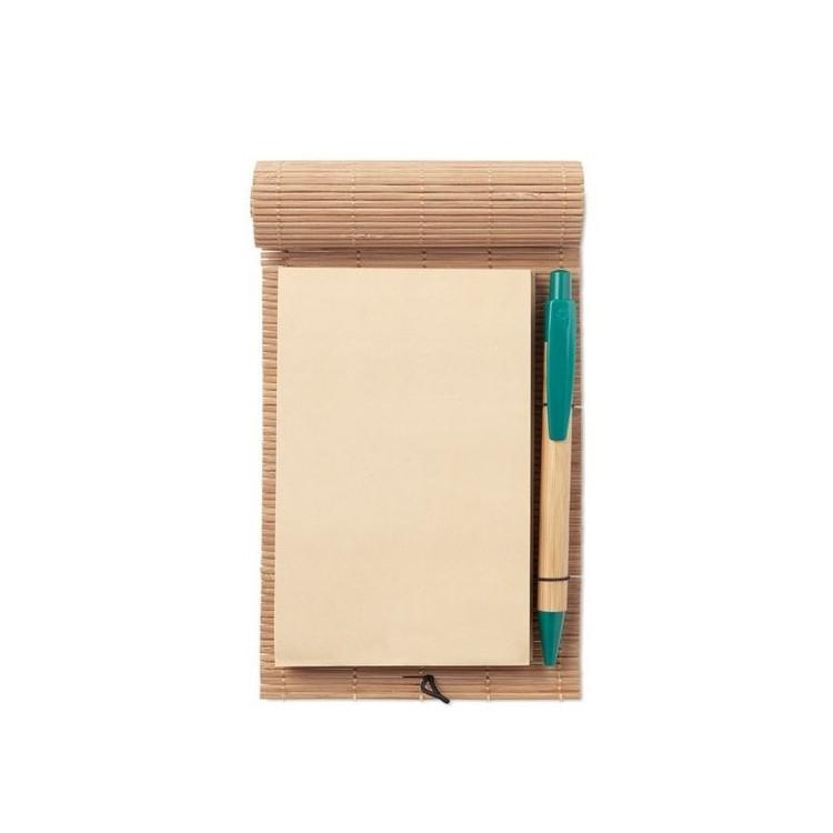 Carnet bambou avec stylo - CORTINA NOTE - Article de papeterie écologique à prix de gros