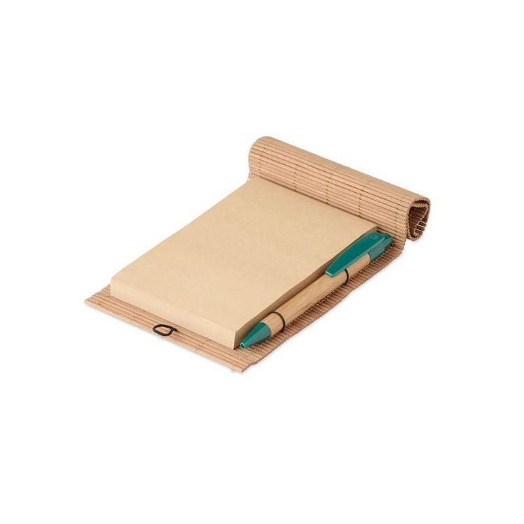 Carnet bambou avec stylo - CORTINA NOTE - carnet à prix de gros