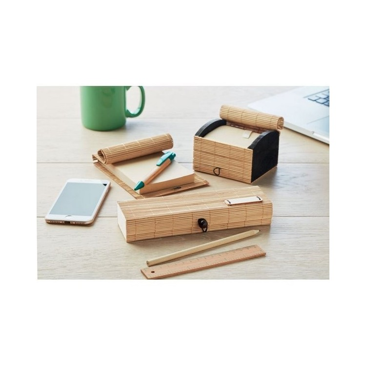 Set d'écriture en bambou - CORTINA TUI à prix grossiste - Set de bureau à prix de gros