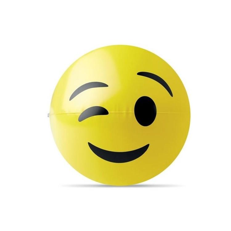 Ballon de plage emoji. - WINKY - Ballon de plage à prix grossiste
