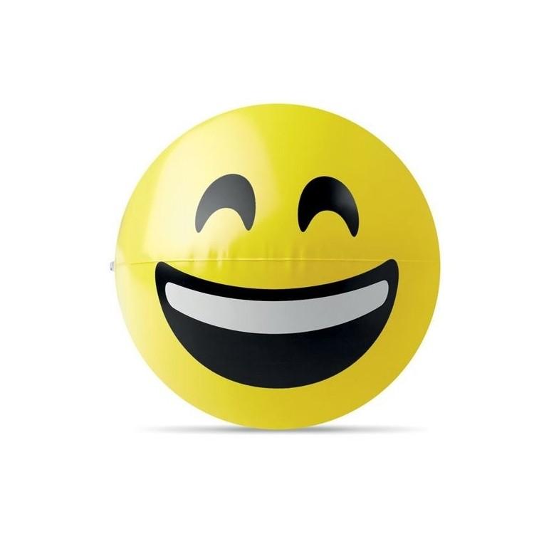 Ballon de plage emoji. - SMILY à prix grossiste - Article de loisir à prix de gros
