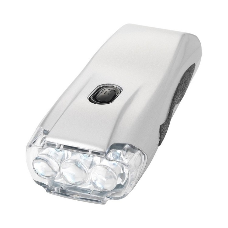 Lampe torche dynamo 3 LED Capella - Lampe torche à prix grossiste