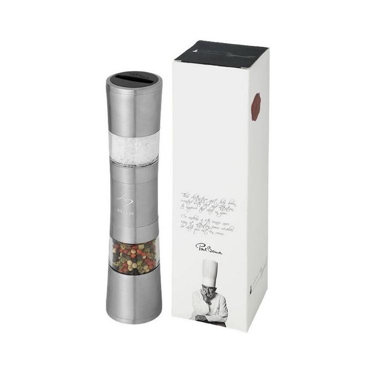 Moulin à sel et poivre Dual en acier inoxydable à prix grossiste - Salière/Poivrière à prix de gros