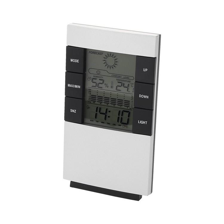 Station météo multifonctions avec alarme Como - Station météo à prix de gros