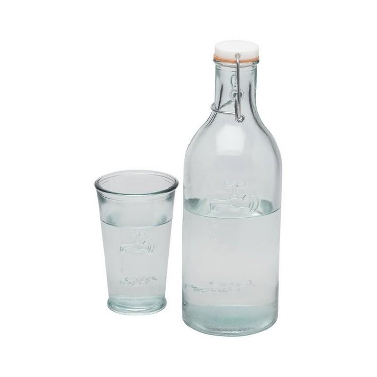 Carafe à eau Ford en verre recyclé à prix grossiste - Service à boissons à prix de gros