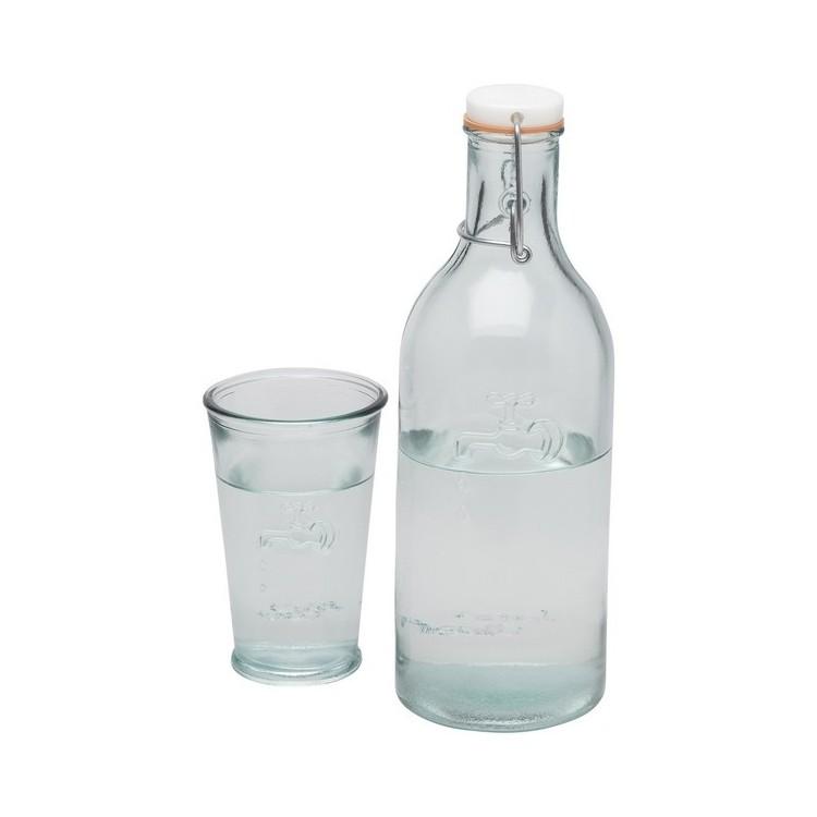 Carafe à eau Ford en verre recyclé à prix grossiste - Carafe à prix de gros